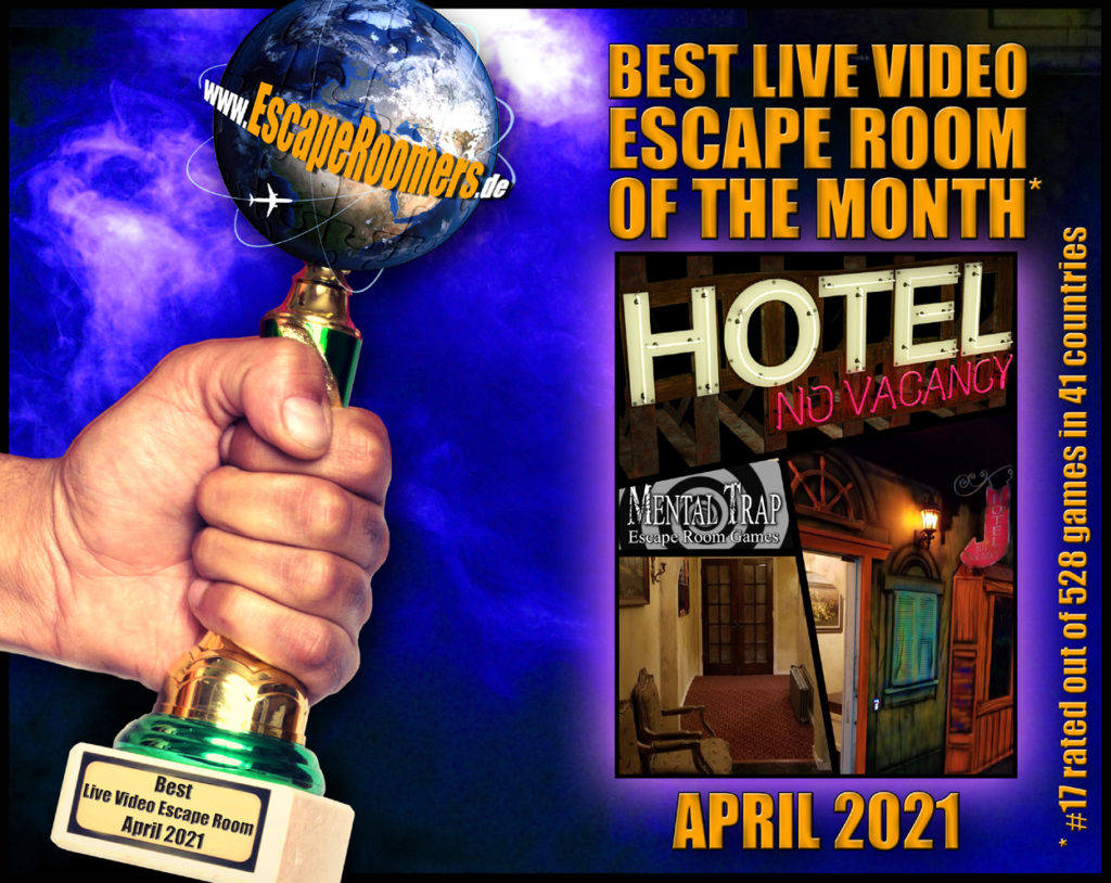 Remote Game Of The Month 2021 04 Hotel: No Vacancy by Mental Trap Escape Rooms